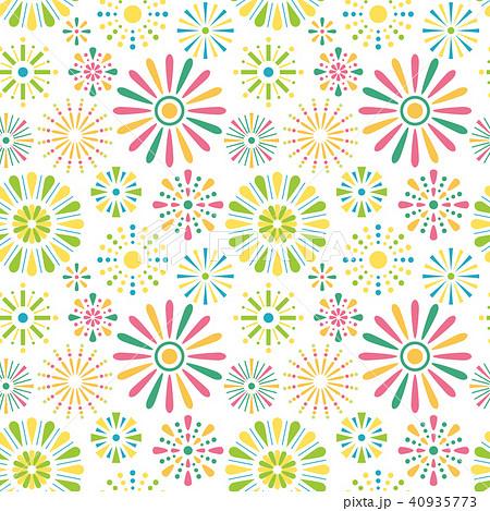花火柄 シームレスパターン背景素材 40935773