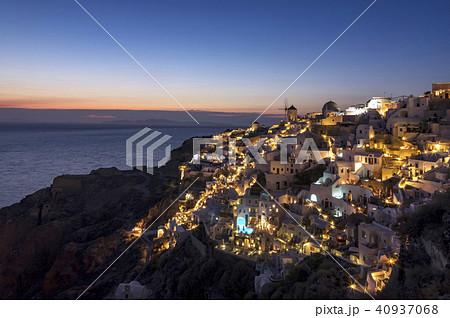 サントリーニ島 夜景 40937068
