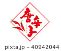 唐辛子 筆文字 文字のイラスト 40942044