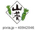 山葵 筆文字 40942046