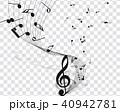 ミュージック 譜面 音楽のイラスト 40942781