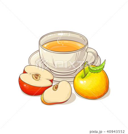 apple tea illustration 40943552