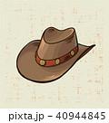 帽子 ハット カウボーイのイラスト 40944845