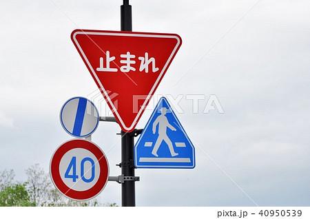 大きい止まれ標識 道路標識 40950539