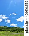 青空 初夏 山の写真 40950859