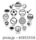 スポーツ 運動 ボールのイラスト 40953558