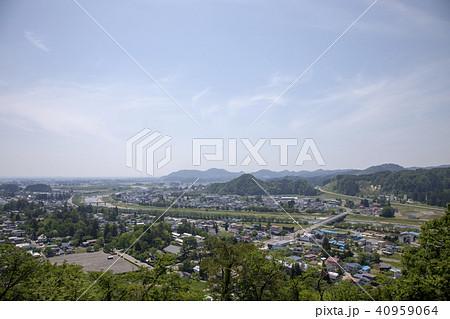 秋田県仙北市 新緑の角館市街 40959064