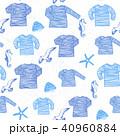 Ink hand drawn seamless pattern seamen singlets 40960884