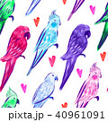 Seamless pattern with bright painted parrots  40961091