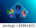 セキュリティ セキュリティー 安全のイラスト 40961821
