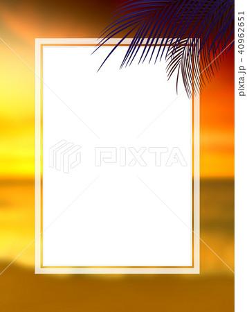 背景-南国-海-空-フレーム 40962651