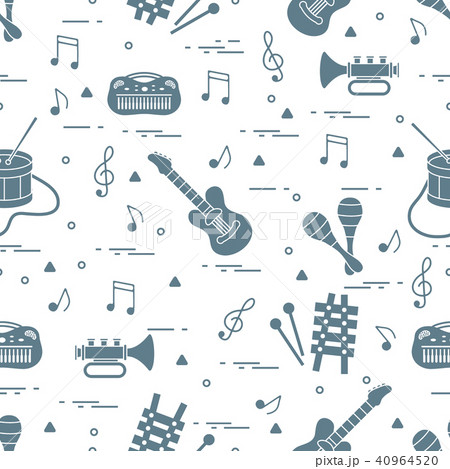 Vector pattern of sheet music and different 40964520