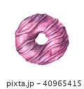 ドーナツ 水彩画 白色のイラスト 40965415