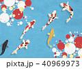 鯉 錦鯉 和紙のイラスト 40969973