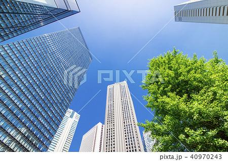 緑のあるオフィス街の風景 40970243