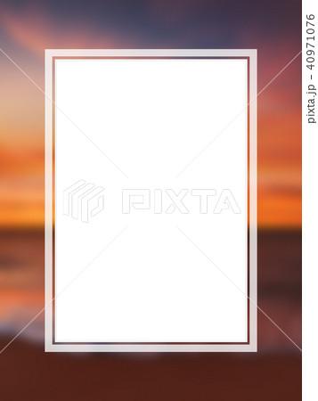 背景-南国-海-空-フレーム 40971076