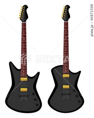 Modern electric guitars. Flat design 40971506