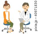 医者 女性 診察のイラスト 40971830