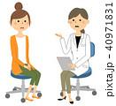 医者 女性 診察のイラスト 40971831