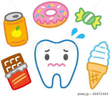 甘い物と歯のキャラクター 40972404