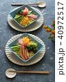 冷やし中華 食べ物 料理の写真 40972517