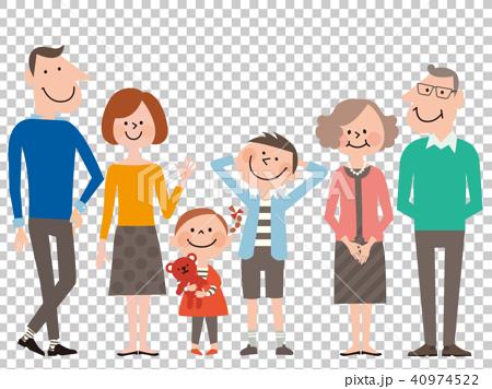 スマートB家族3世代6人(男の子服/水色) 40974522