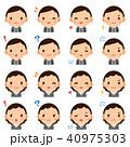 セット 表情 男女のイラスト 40975303
