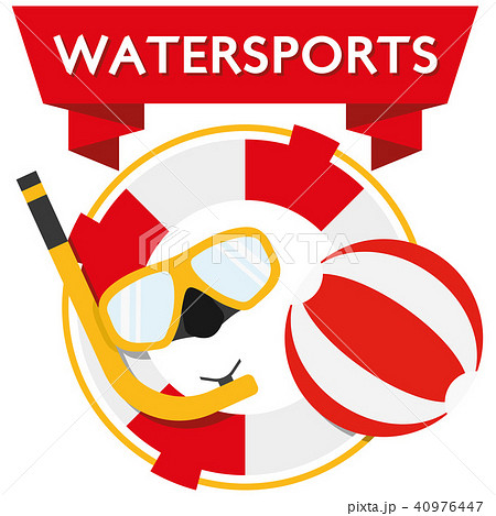 Illustration flat design watersports 40976447