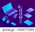ベクトル 立体 3Dのイラスト 40977560