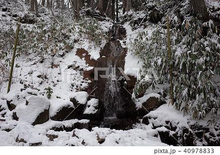 冬の雪、戸隠神社の滝 40978833