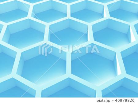 六角形ハニカム構造の抽象的な背景 40979820