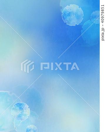 和の背景-和紙-雪輪-紅葉-青 40979851