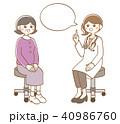 診察 医者 患者のイラスト 40986760