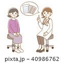 診察 医者 患者のイラスト 40986762