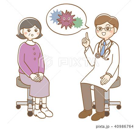 医者 診察 ウイルス 40986764