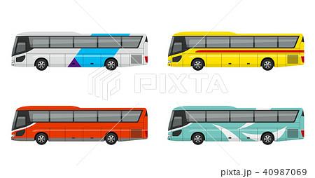 観光バス、高速バス、夜行バス、セット 40987069