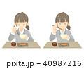 女性 食事 朝食のイラスト 40987216