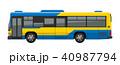 乗り物 車 路線バスのイラスト 40987794