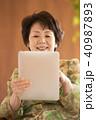 タブレットPC 操作 インターネットの写真 40987893