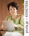 タブレットPC 操作 インターネットの写真 40987898