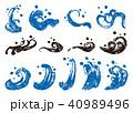 波 手書き 和風のイラスト 40989496