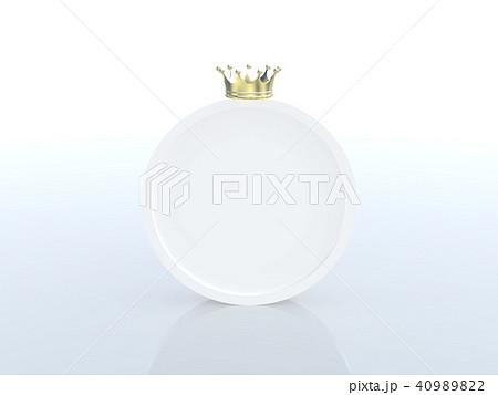 CG イラスト 王冠 クラウン 順位 ランキング フレーム 円 40989822