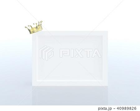 CG イラスト 王冠 クラウン 順位 ランキング フレーム 四角 40989826