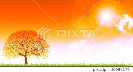 秋 空 風景 背景  40990175