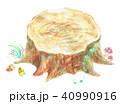 切り株 手描き 水彩画のイラスト 40990916