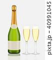 お酒 ビン シャンパンのイラスト 40991045