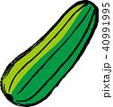 沖縄野菜のヘチマ一つ(ナーベーラー)カラー 40991995