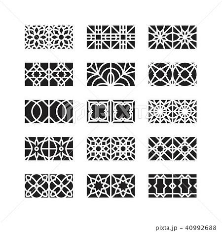 arabic ornament icon, vector set 40992688