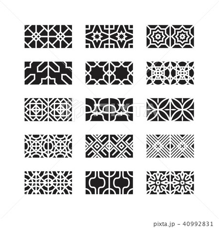 arabic ornament icon, vector set 40992831