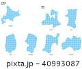ベクター イラスト デザイン 地図 マップ 日本 北海道・東北 ドット 40993087